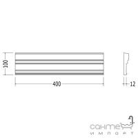 Плитка керамическая рамка - фриз DEVON&DEVON ELYSEES BOISERIE frame (warm grey) ddeBcowg