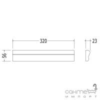 Плитка керамическая рамка - фриз DEVON&DEVON LAMBRIS Frame 1 (black) cglamc1Bl