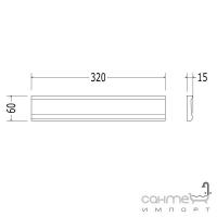 Плитка керамическая рамка - фриз DEVON&DEVON LAMBRIS Frame 2 (warm grey) cglamc2wg