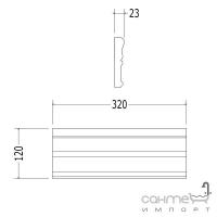 Плитка керамическая рамка - фриз DEVON&DEVON LAMBRIS Frame 3 (black) cglamc3Bl