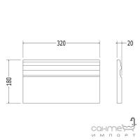 Плитка керамическая плинтус DEVON&DEVON LAMBRIS plinth (cream) cglamplcr