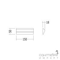 Плитка керамическая рамка - фриз DEVON&DEVON SIMPLY frame (cream) dc515caV