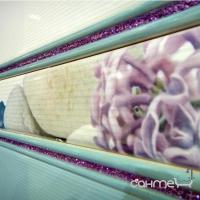 Плитка настенная фриз Absolut Gloss Listello L-1560 Turquesa Glitter Malva