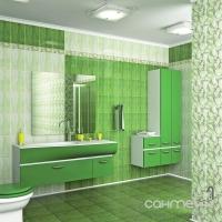 Фриз Береза керамика Елена каприз зеленый (20х7)