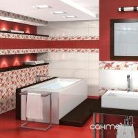 Фриз Береза керамика Капри Capri red stiek (25x2)