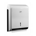 Держатель для листовых бумажных узкопанельных полотенец ZZ сложения JVD Clenline 899604 белый