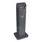 Напольная пепельница с автоматическим тушением сигарет на 12,5 литра JVD 899503 черная