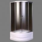 Полукруглая душевая кабина AquaStream Simple 99 H профиль сатин, стекло матовое