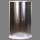 Полукруглая душевая кабина AquaStream Simple 110 L профиль сатин, стекло матовое