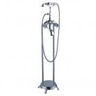 Напольный смеситель для ванны с душевой лейкой Atlantis Серебро