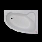 Ассиметричная акриловая ванна с ножками Tender 150x100 правосторонняя, белый