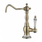 Излив для фильтрованной воды с керамической ручкой и орнаментом Zorg ZR 01-Y BR Бронза (Латунь)