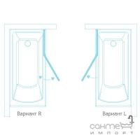 Шторка для ванны левосторонняя KollerPool Waterfall Line QP95