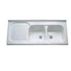Кухонная мойка двойная Azzurra SIRIO LAI 120ХХ белая