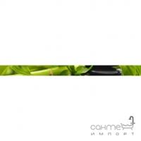 Фриз 400х30 Golden Tile Relax (зеленая, с листьями) 494301