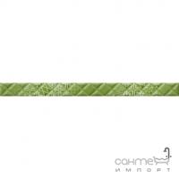 Фриз 400х30 Golden Tile Relax Aura (зеленая, с рельефным рисунком) 494411