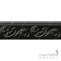 Фриз настенный, 300х90 Golden Tile Absolute Modern (черный, с орнаментом) Г2С361