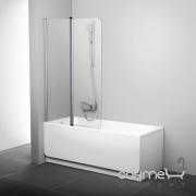 Шторка для ванны подвижная двухэлементная Ravak CVS2-100 L левая