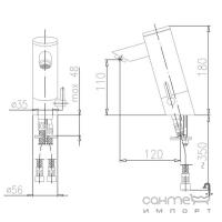 Смеситель с фотоэлементом KFA Armatura Special 592-110-00 хром