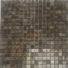 Мозаика 30,5x30,5 (1,5x1,5) Veromar DARK EMPERADOR POLISHED RM-15-158 (коричневая)