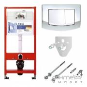 Инсталляция с комплектом для установки подвесного унитаза TECE TECEbase kit 9.400.005
