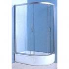 Душевая кабина Keramac Victoria-Satin 008133 левосторонняя, профиль хром/стекло fabric