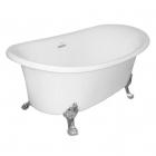 Отдельностоящая акриловая ванна на львиных лапах SSWW M716-1