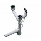 Отводная арматура двойная с переливом и сифоном Blanco 137979 пластик/нержавеющая сталь