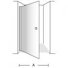 Дверь в нишу распашная 100 Villeroy&Boch UDW0100SKA100V V-61