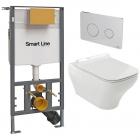 Унитаз подвесной с сидением + инсталляция + панель смыва Noken Pack Forma 100160361 - N350798845