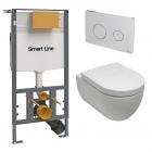 Унитаз подвесной с сидением + инсталляция + панель смыва Noken Pack Arquitect 100176311 - N390000048