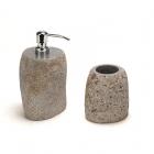 Дозатор для жидкого мыла+стакан IMSO Ceramiche riverstone камень