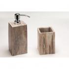 Дозатор для жидкого мыла+стакан IMSO Ceramiche fossil окаменевшее дерево
