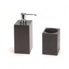 Дозатор для жидкого мыла+стакан IMSO Ceramiche черный базальт