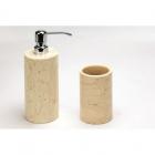 Дозатор для жидкого мыла+стакан IMSO Ceramiche мрамор, цвета в ассортименте
