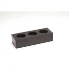 Подсвечник тройной IMSO Ceramiche черный базальт