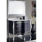 Комплект мебели для ванной комнаты Jurado Elena 100 черный/серебро