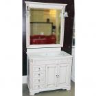 Комплект мебели для ванной комнаты Jurado Viena 80 bianco decape/travertino