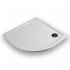 Полукруглый душевой поддон из литого мрамора Gronix Deniz D2-9090-3 белый