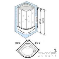 Гидромассажный бокс Appollo AW-5028 (матовое стекло)