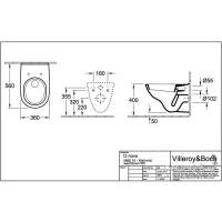 Унитаз консольный с крышкой Soft-close Villeroy&Boch O.Novo 5660H101