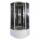Гидромассажный бокс Atlantis Fashion AKL-100P профиль сатин, задние стенки черные, двери тонированные (графит)